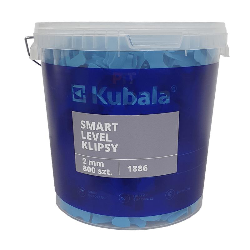 SMART LEVEL fugázó klipsz, 2,0mm, 800 db + 20 literes vödör
