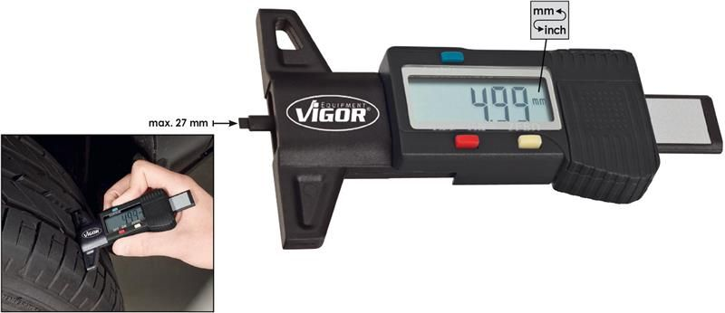 Gumi profil mélységmérő, V1584, VIGOR