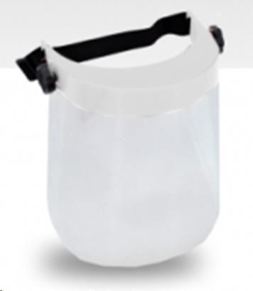 Arcvédő plexi, állítható, fehér, AWTOOLS