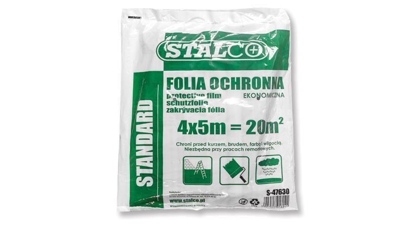 Takarófólia 4 x 5 m ; LDPE ; 260 g ; standard STALCO