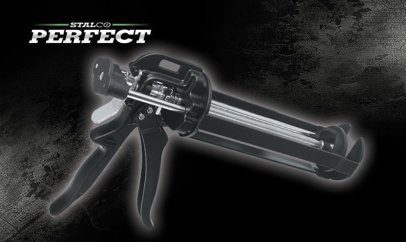 Kartus kinyomó pisztoly erősített 205 mm , 400 ml STALCO PERFECT