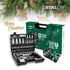 """STALCO 94 részes dugókulcs készlet, ½ + ¼"""" + kulcs szett, XMAS"""
