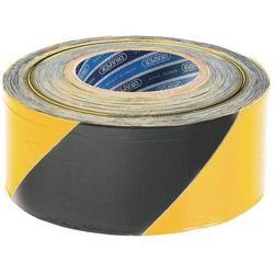 Jelölő szalag, sárga-fekete, 75mm X 500m, Draper